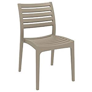 Genial Get Quotations · Ares Resin Outdoor Dining Chair (2 Chairs)   Dove Gray