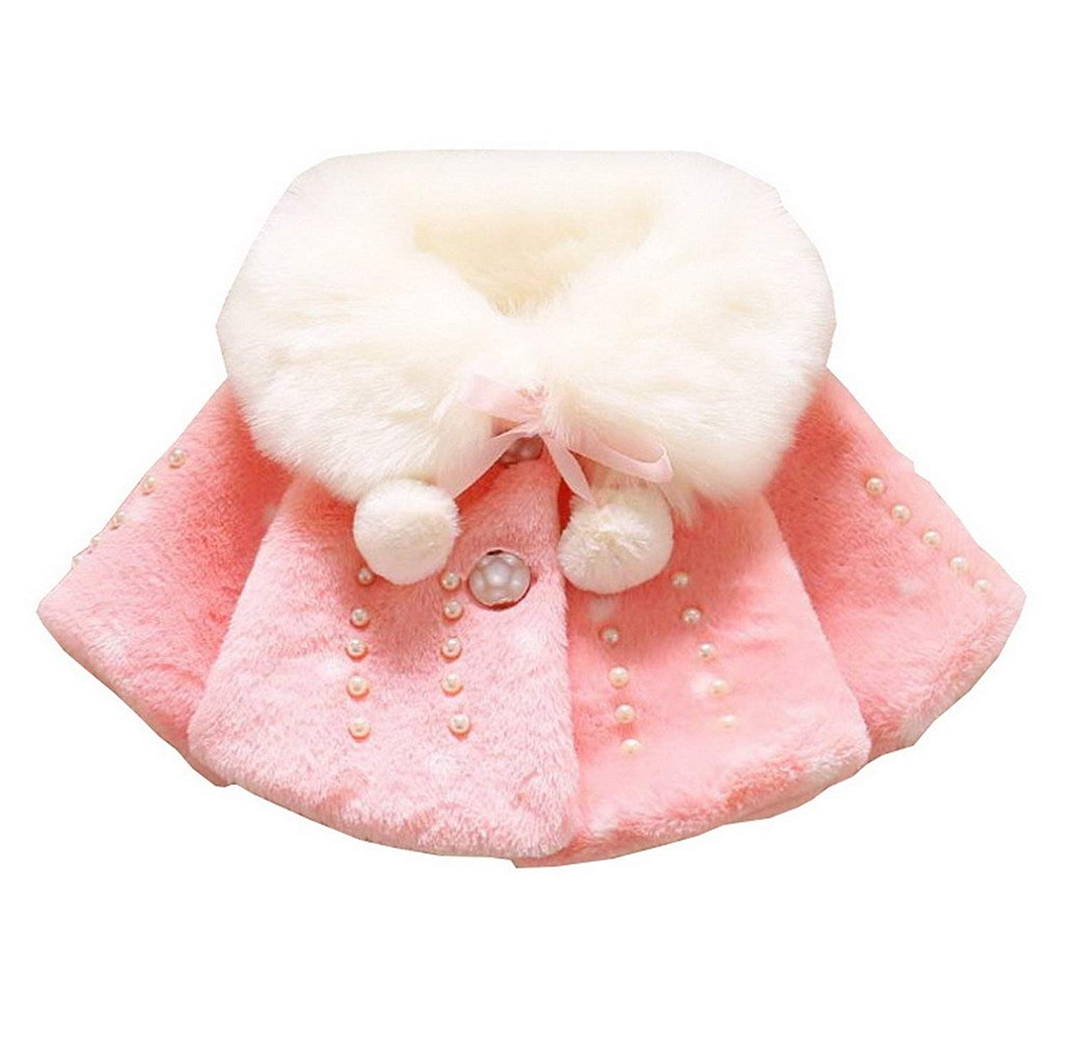Newborn Baby Autumn Winter Faux Fur Line Long Down Coat Puffer Quilted With Hood Warm Coat Cloak Jacket Thick Warm Clothes