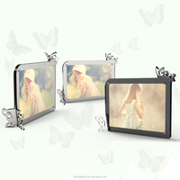 Strong magnetic acrylic paper photo frame wiht butterfly design