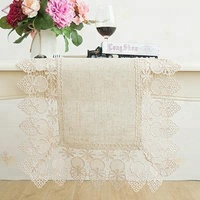 LongShow Customized Home Hotel Linen Fabric Tablecloth