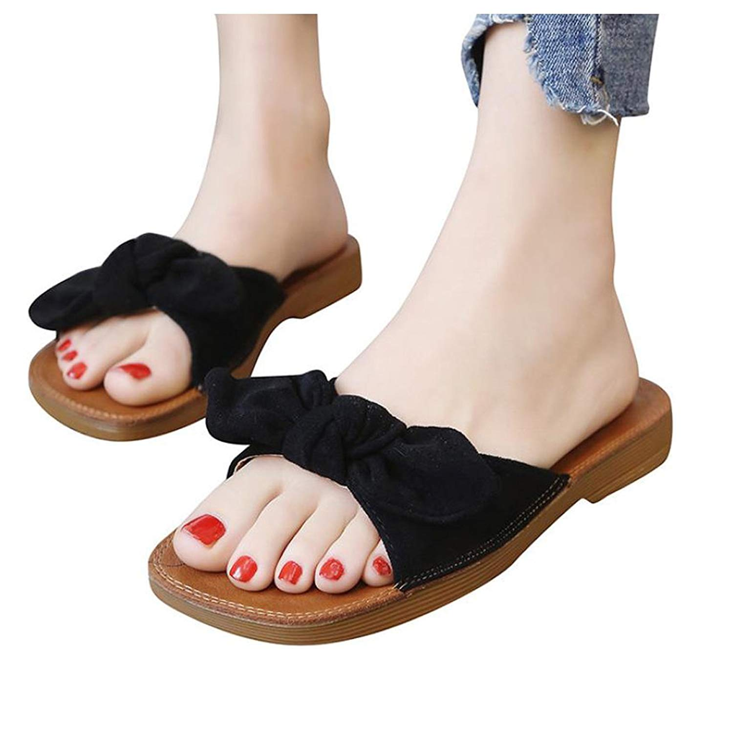 1ffaf80135d3 Get Quotations · Inkach Womens Wedge Sandals ❤ Fashion Summer Chunky Heeled Wedge  Sandals Thong Slippers Flip-