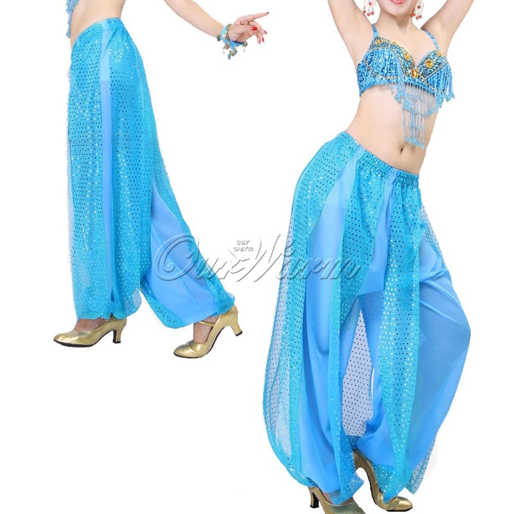 7e5ac5176 Buy Many Colors Belly Dance Costume Chiffon Shining Sequin Balloon Bloomers  Trousers Indian Dance Pants in Cheap Price on m.alibaba.com