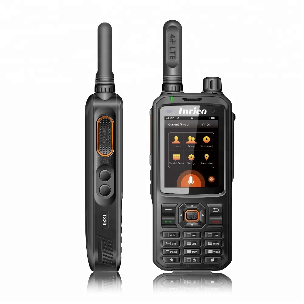 Inrico T320 4G LTE rede interfone transceptor rádio do telefone móvel walkie talkie