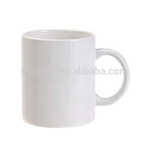 plain white Straight 11 oz Ceramic coffee mug