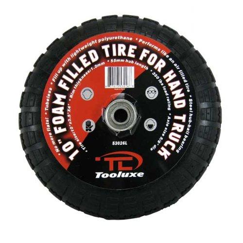 Tooluxe Heavy Duty 10-Inch Hand Truck Tires Wheels, Flat-Free Foam Wheels