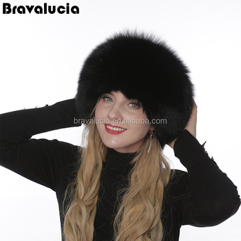 b0ebdbaa997 Real Genuine Fox Fur Shapka Beanie Ushanka Russian Hat Bomber Hat With Real  Leather