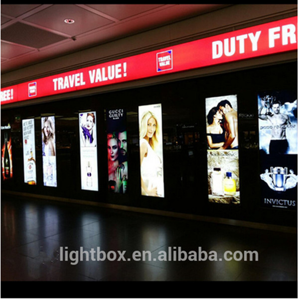 aluminum profile shopping mall advertising light box led signboard