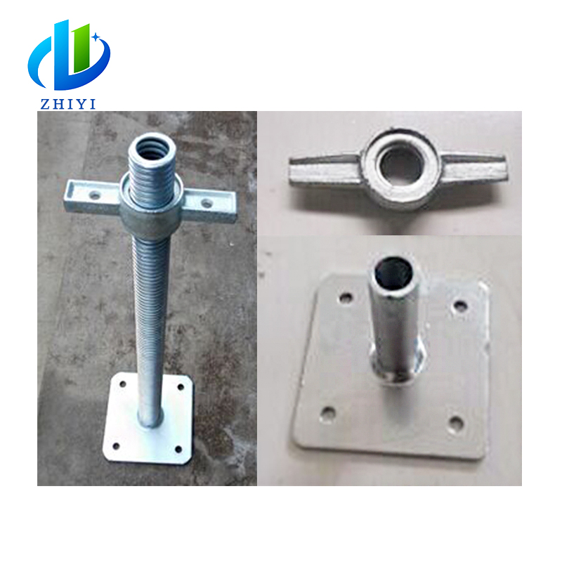 Durable in use adjustable swivel base prop scaffold screw jack