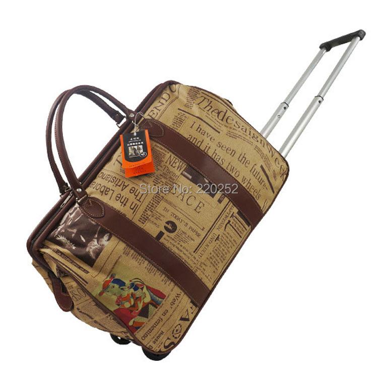 4982e8251ec Get Quotations · Waterproof Women Men Travel Bags Trolley Wheels Rolling  Luggage Trolley Travel Bag Wheels Rolling Luggage Travel
