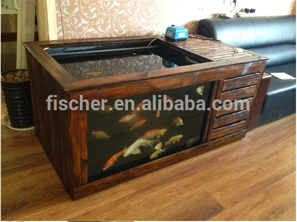 Hot Selling Aquarium Koi Pond Frp Fiberglass Fish Tank With Viewing Window And Filtration Room
