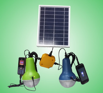 Solar Lamp With Mobile Phone Charger For Home Indoor Lighting ...