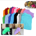 Wholesale Pet Clothing 100% Cotton Plain Dog tshirt Clothes