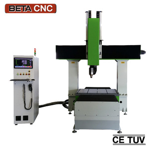 Wooden boat car molding making cnc router 5 axis machine with CE