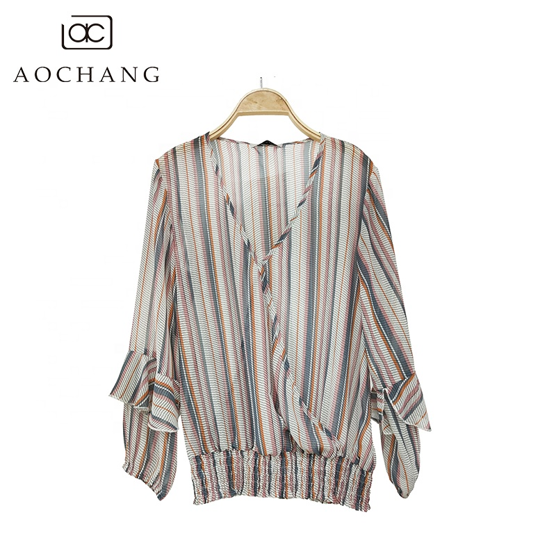 Women Plus Big Size 2xl Loose Casual Chiffion Blouse Bandage Round Neck Short Sleeve Tunic Shirt Blusas Mujer Clear-Cut Texture Blouses & Shirts