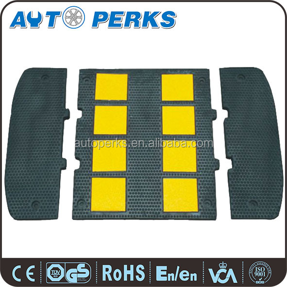 Yellow Reflective Safety Rubber Road Hump