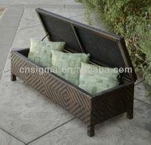 2017 Trade Assurance Sigma Customized Outdoor Wicker Brown long rattan storage ottoman