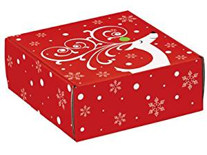 "Decorative Shipping Boxes - Dashing Reindeer Gourmet Shipping Boxes 8x8x3"" Auto Lock Boxes - (6 Per Pack) - WRAPS - 51DR"