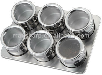 Stainless Steel Magnetic E Jars With Rack