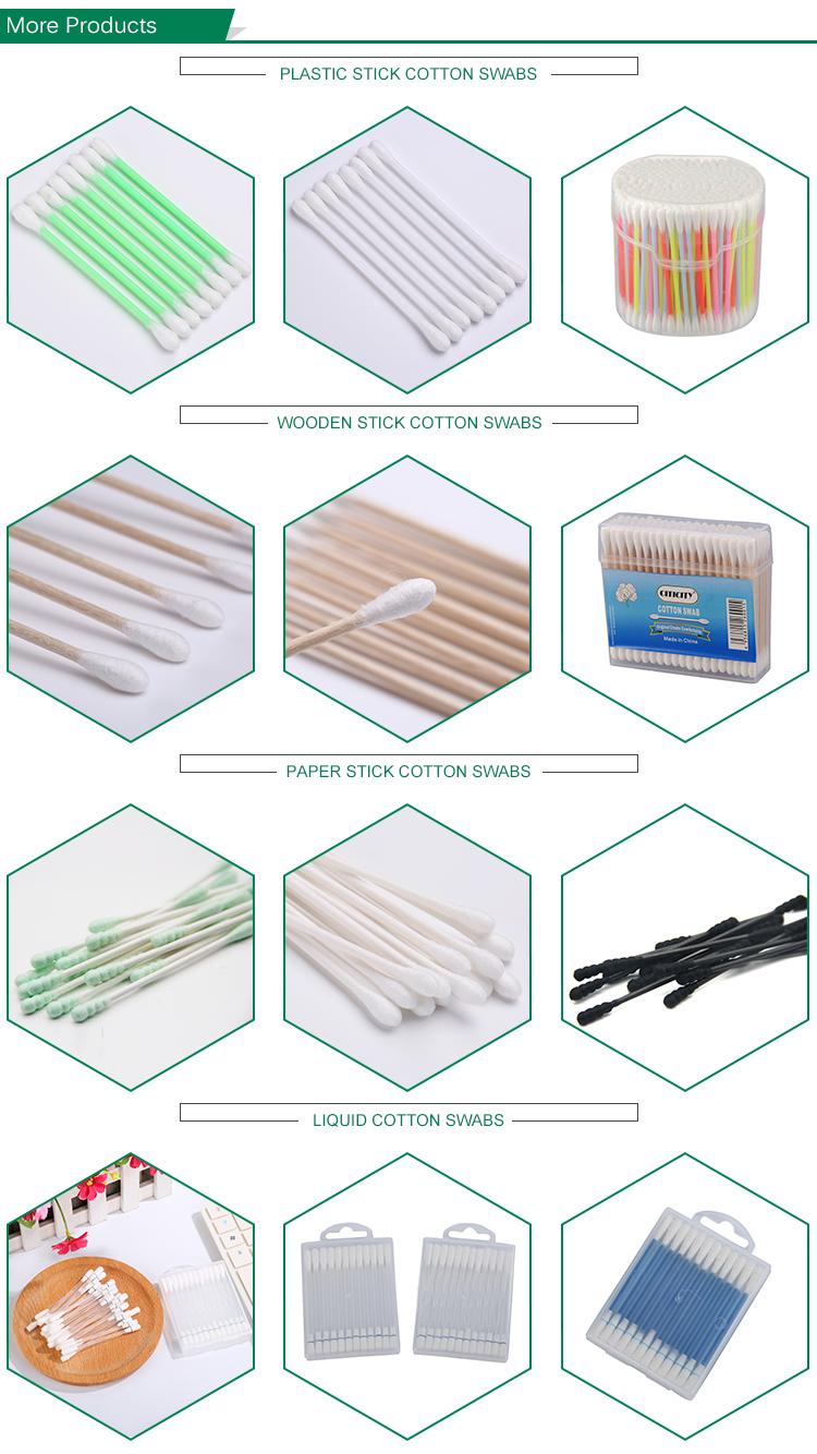 300 stuks bamboe stok wattenstaafjes Make-Up remover wattenstaafje