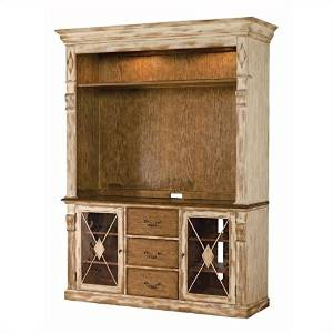 Hooker Furniture Sanctuary Gaming Console with Hutch in Dune and Beach