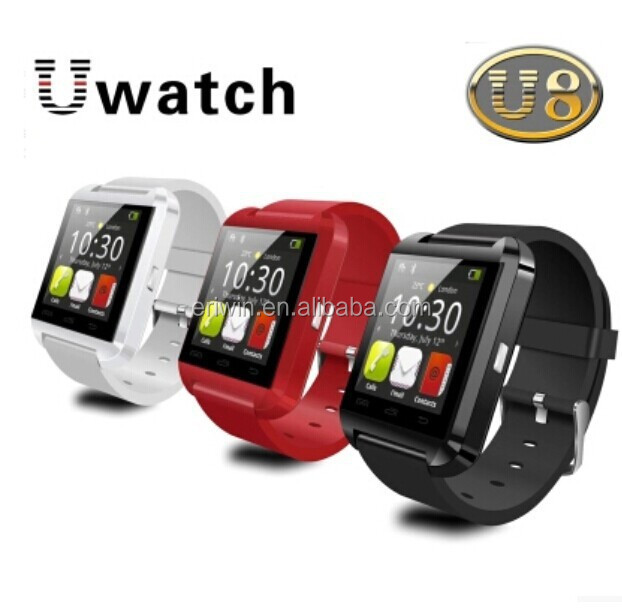 Cheap bluetooth watch for android phone U8 pedometer sports smart watch made in Shenzhen