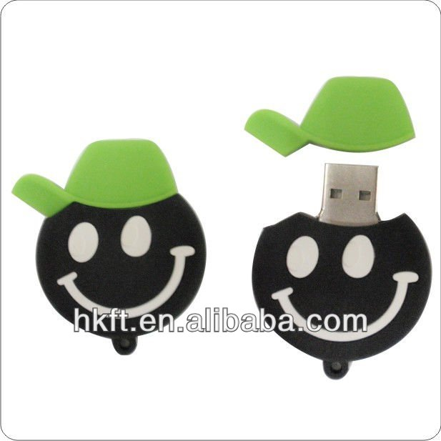 Lovely smiling face plastic 16gb usb flash stick