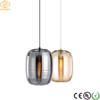 Chinese lighting manufacture retro industrial hanging glass ball smoky cognact pendant light manufacturer for restaurant