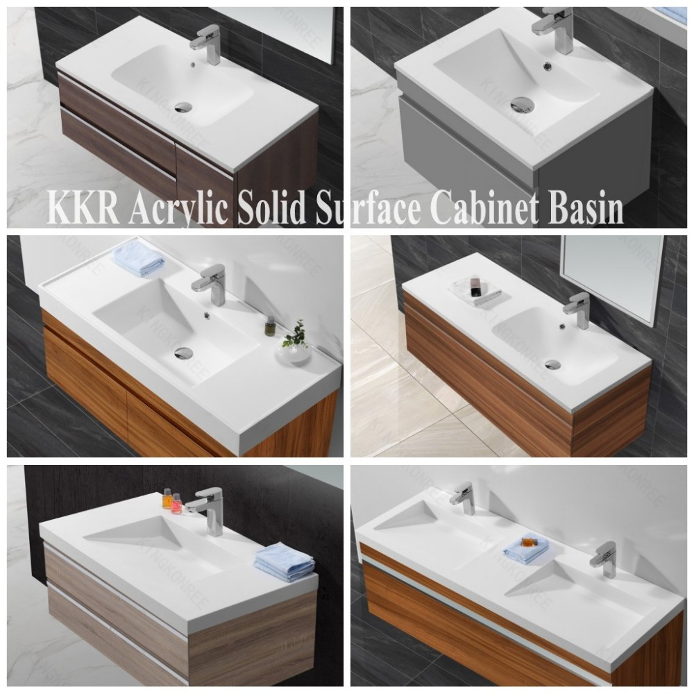 Artificial Stone Sinks Vanity Top With Bowl Solid Surface Sink