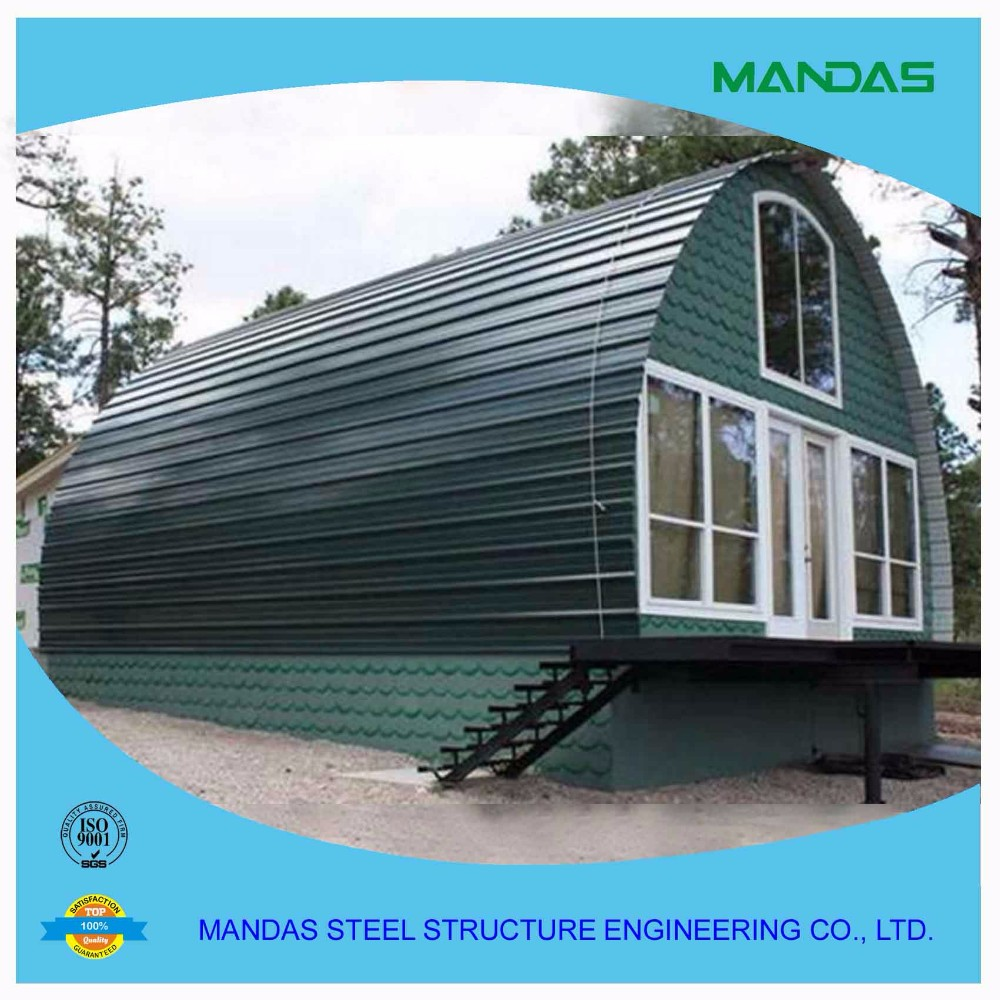 Prefabricated arched cabin prefab arched cabin portable for 20x40 cabin