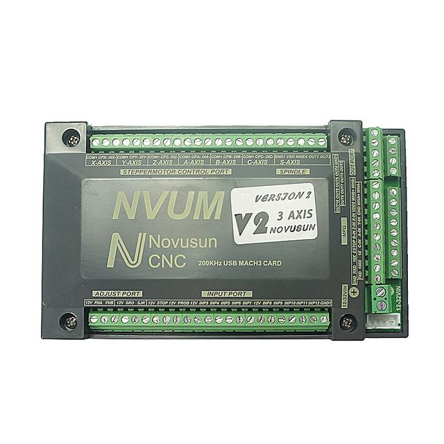 4 ejes 3//4 Axis 200KHz NVUM USB Mach3 Tarjeta de control de movimiento Tarjeta controladora CNC Controlador CNC