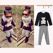 2Pcs New Kids Baby Girls Infant T shirt Top Long pants Outfit Set Clothes 2 7Y