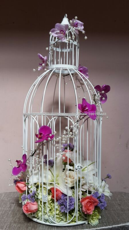 La decoracin vela jaulapilar titular para la bodapartidohotel