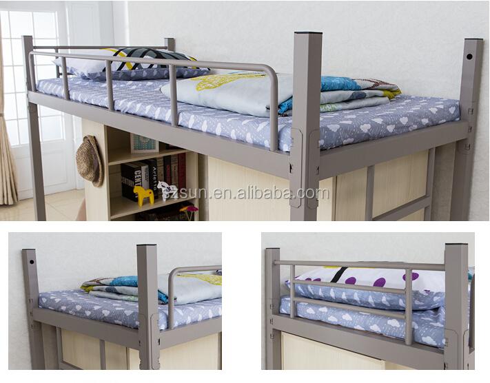 College Modern Design Metal Bedroom Furniture Cheap Bunk Bed Desk ...