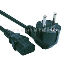 european plugs power cord with PVC cable