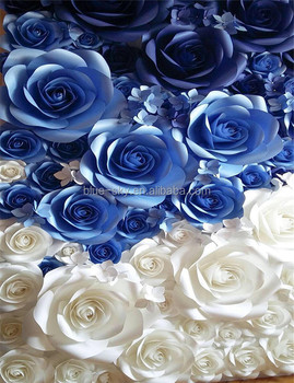 New Goods Paper Flower Wall Backdrop Wedding Centerpiece Giant Paper ...