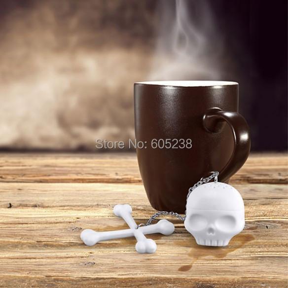 Free Shipping 1Piece Cool T-Bones Tea Bones Skull Tea Infuser Tea Strainer for <font><b>Home</b></font> <font><b>Decor</b></font>