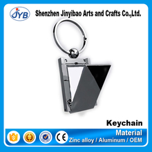 good quality custom metal photo insert keyring pictures holder keychain