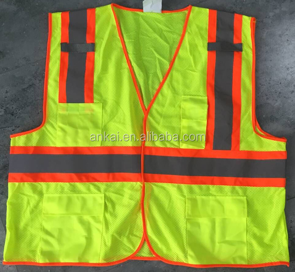 Multi-functional with low price reflective vest,safty equipment safty vest