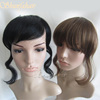 full lace wig with bangs for black women,hair pieces fringes,bangs lace closure
