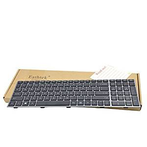 Eathtek Replacement Keyboard with Grey Frame for HP probook 4540s 4540 4545s series Black US Layout (There are some dirty on the backside. But the keyboard is brand new, never used!)
