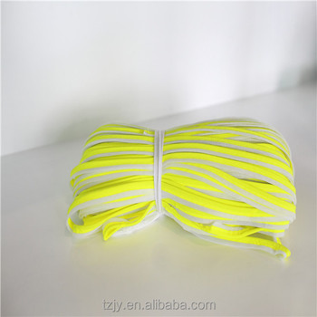reflective fabric coloured bias cut reflective piping tape