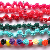 CB8070 Resin acrylic rose flower beads