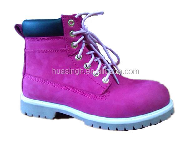 Middle Cut Ladies Working Footwear Pink