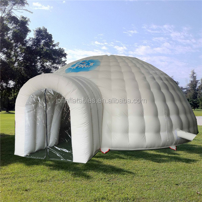 2019 event house tent inflatable Christmas hut with decorations for sale