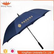 "Good Price 30""X8K Fiberglass Shaft Auto Open Long Handle Umbrella With Logo Printing"
