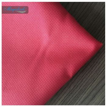 150d Ripstop 100 Polyester Oxford Fabrics Red Color Waterproof Pu Coating Used For Travel Bags