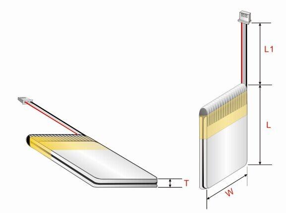 Digital Device Lipo Libattery 480mah 752035 3.7v Lithium Polymer ...