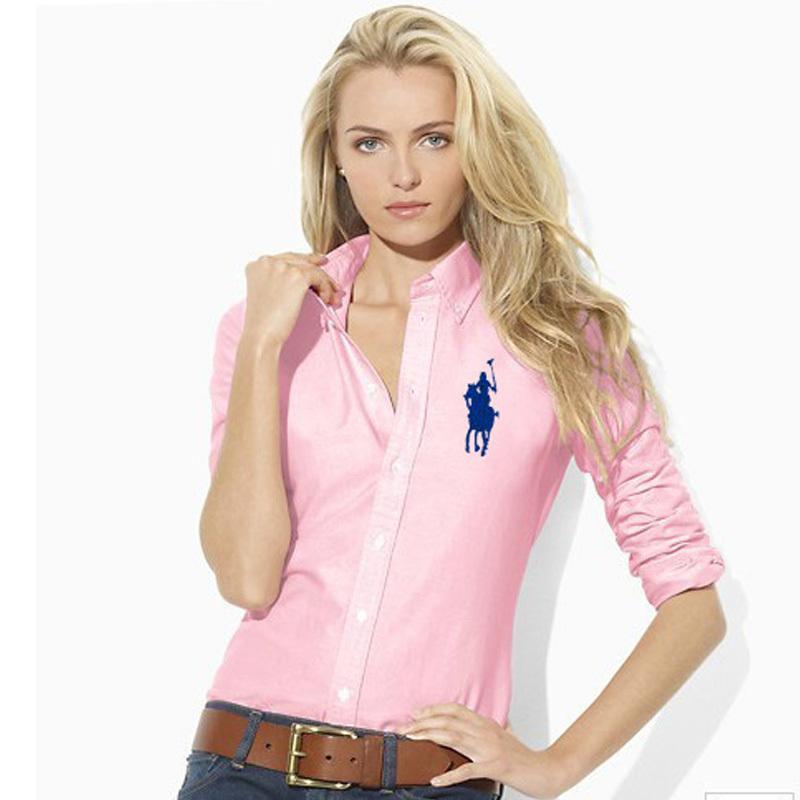 09b4eb759 Get Quotations · Fashion sexy Brand Women s Polo ralp Shirt Long Sleeve  Slim Fit blusas Polo Women Shirts Casual