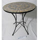 stone surface tile top bistro set for outdoor and indoor