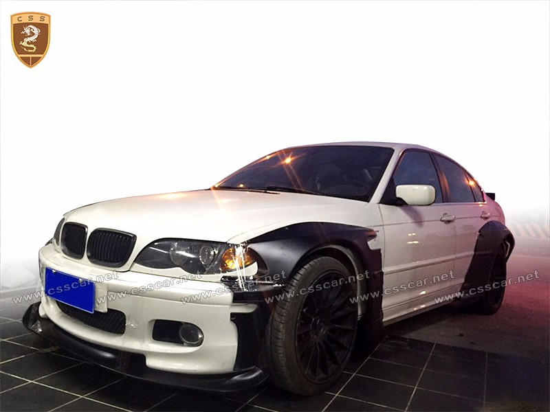 Wide Body Kit For Bmw E36 E46 3 Series R-bunny Restyling ...